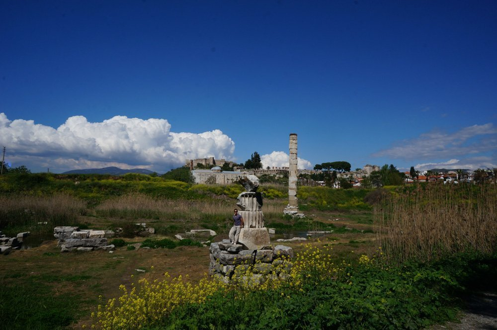 What's left of the temple of Artemis.