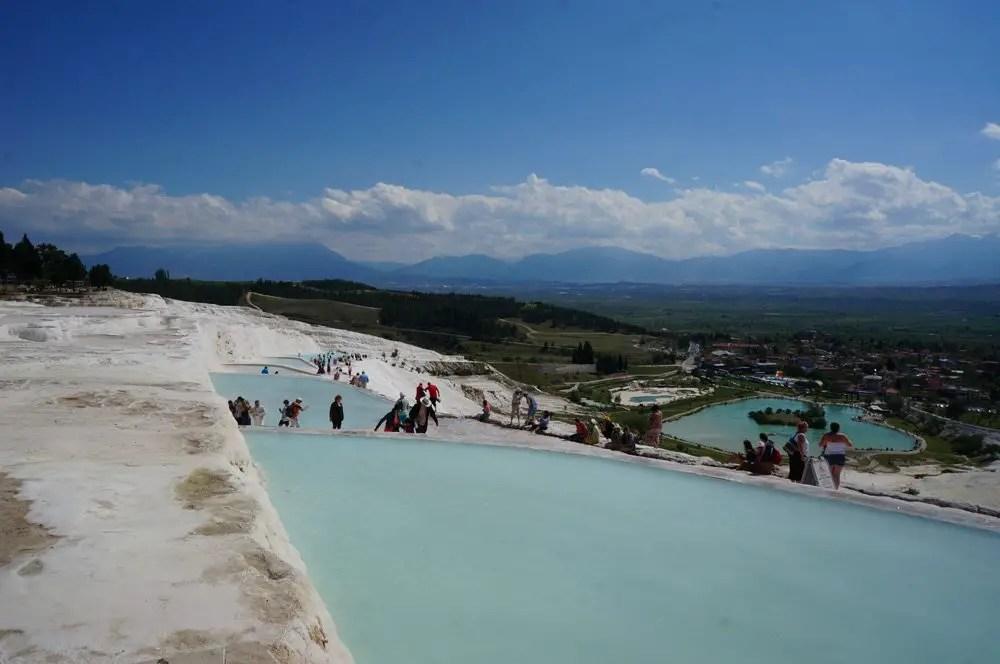 Hot springs in Pamukkale