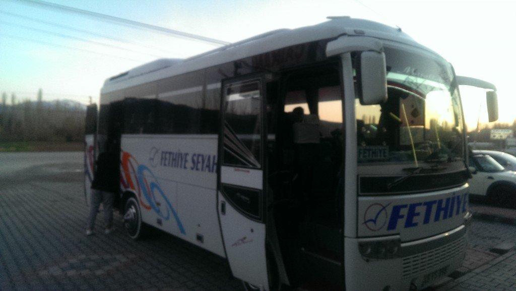 Our bus from Denizli to Fethiye