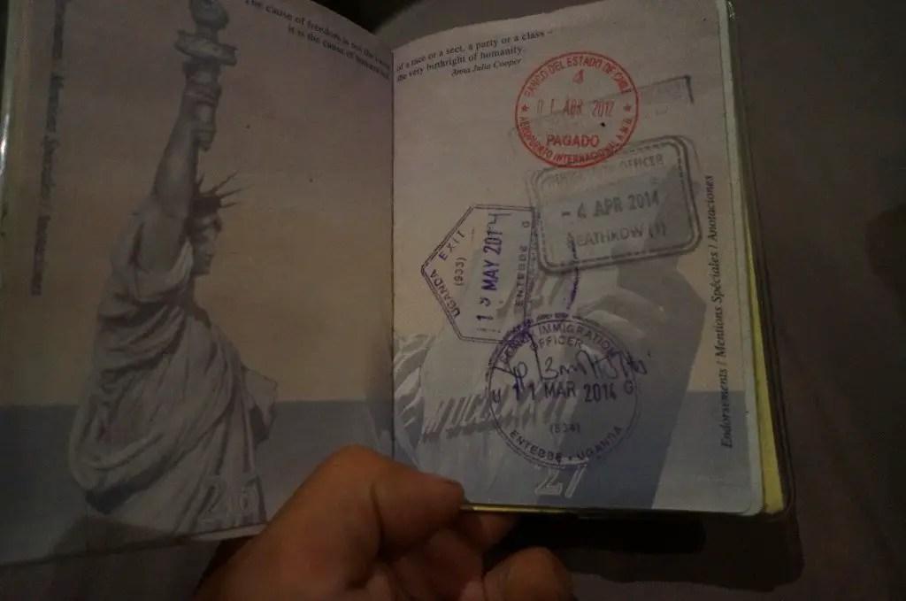 Passport stamps of Uganda