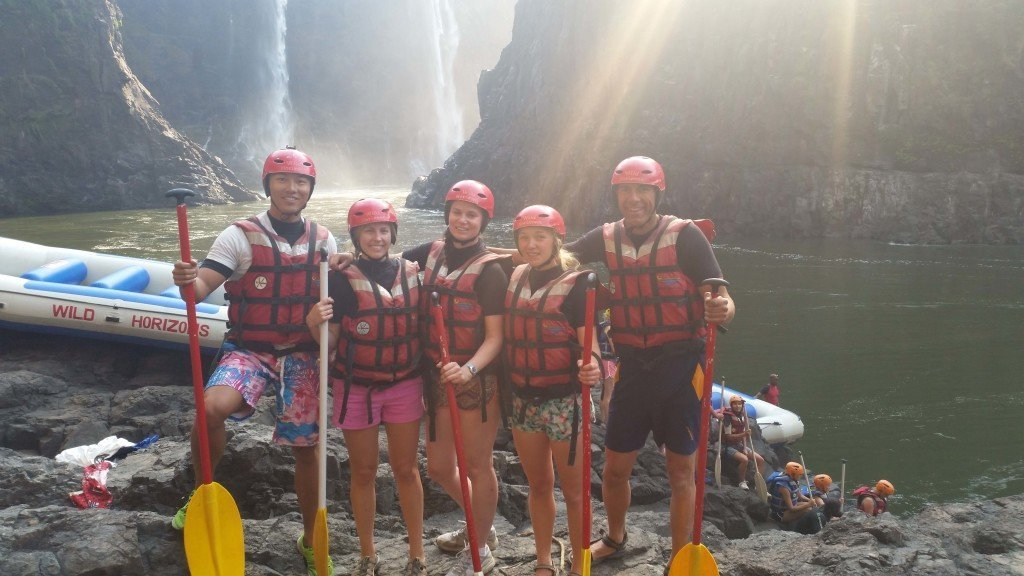 The group before getting into the raft.