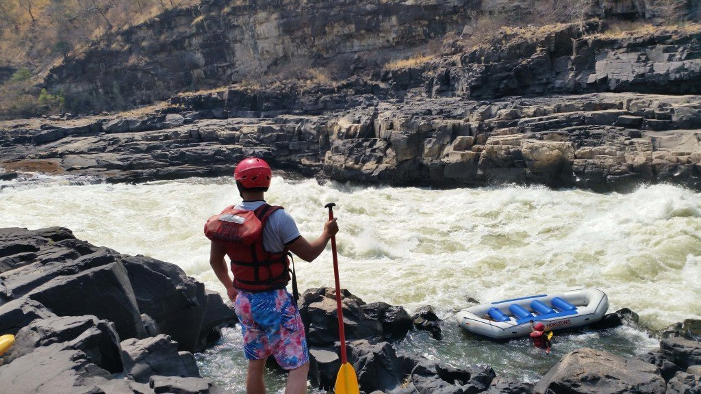 This is rapid #10, a grade 6 rapid that we had to all disembark. Look at how crazy those waves are!