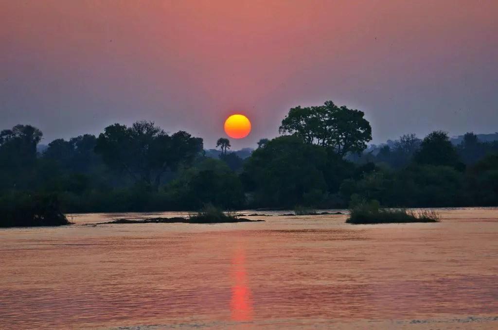 african sunset victoria falls