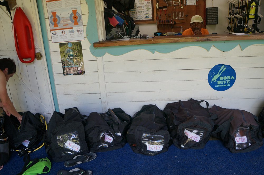The dive shop, packed all our gear up before we even arrived.