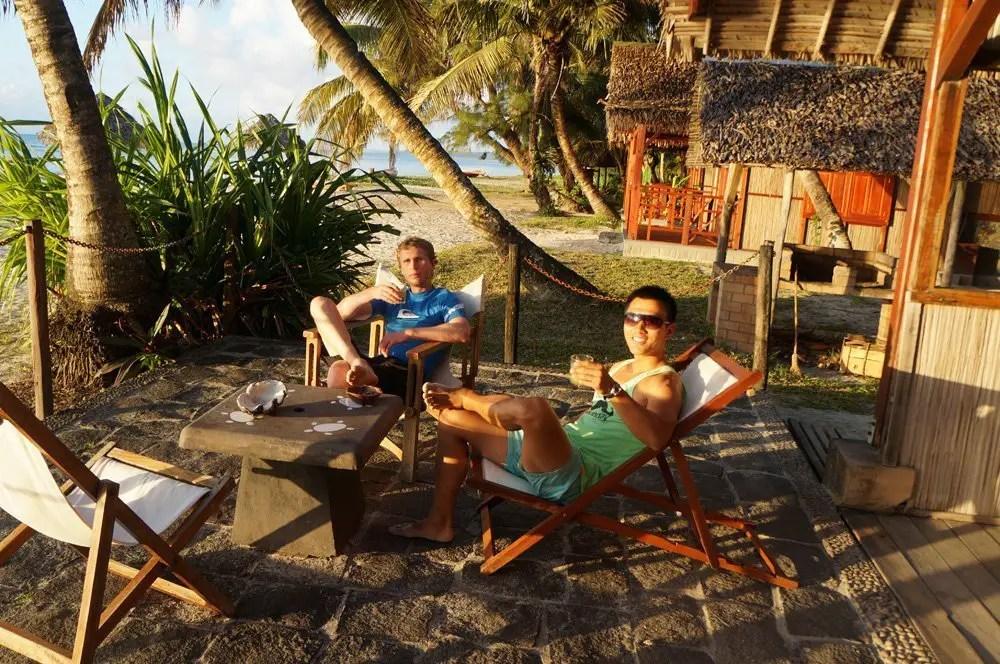 Some sundowner drinks on the beach