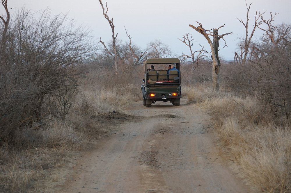Setting out on our game drive