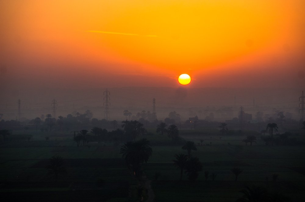 Now that's not a bad sunrise...on my hot air balloon over Luxor!
