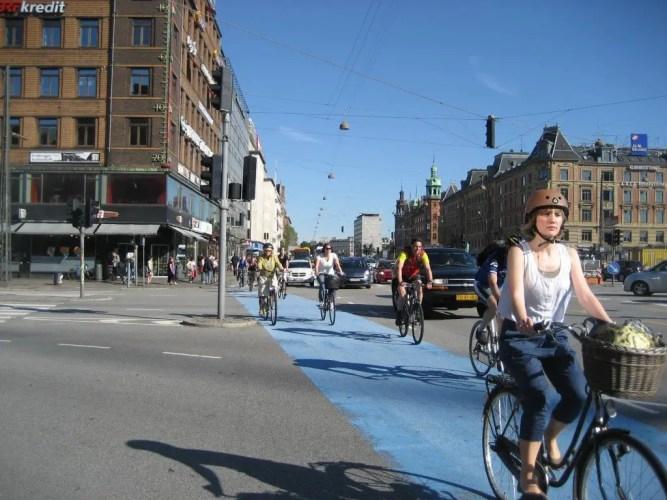 Biking in Copenhagen