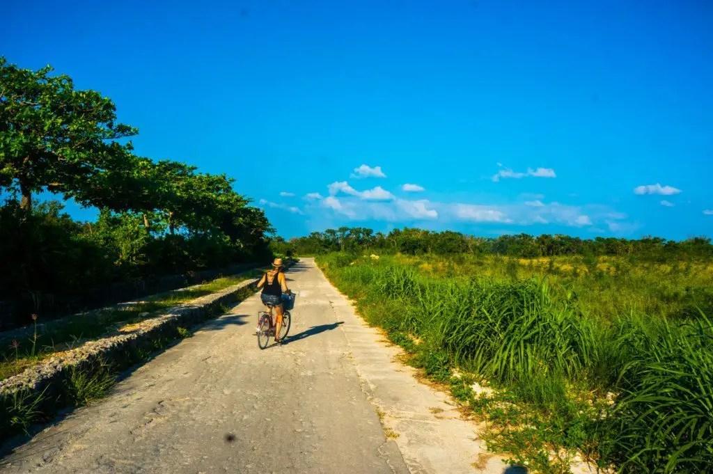 taketomi island japan bike