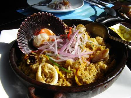 La Mar rice seafood mix
