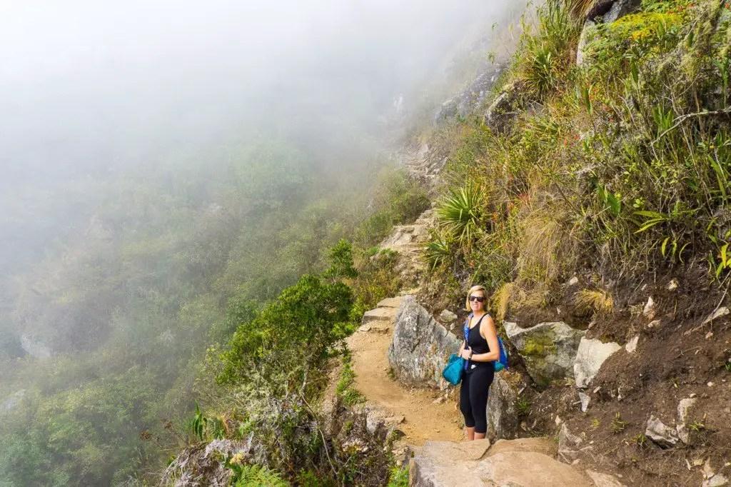 Climbing Machu Picchu mountain