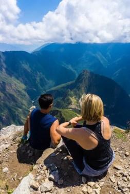 Machu Picchu Mountain top view