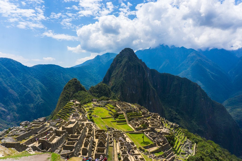 Machu Picchu. Note that this specific location is NOT the top of Machu Picchu Moutnain