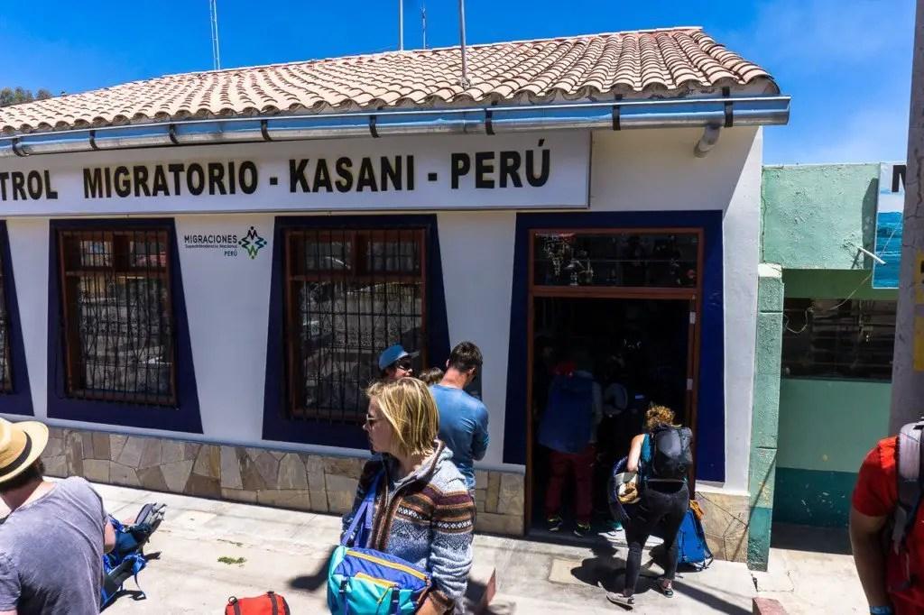 Peru exit stamp