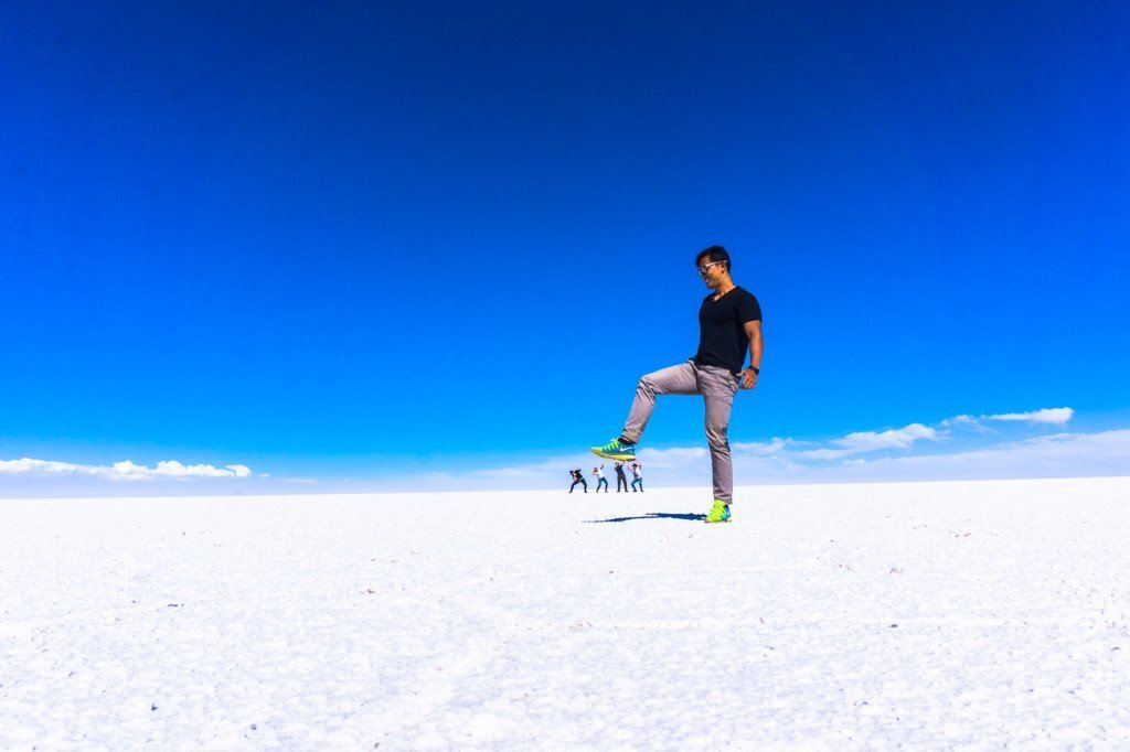 Salt flats depth photo