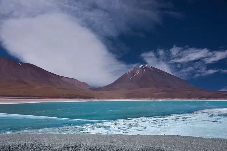 green lagoon bolivia