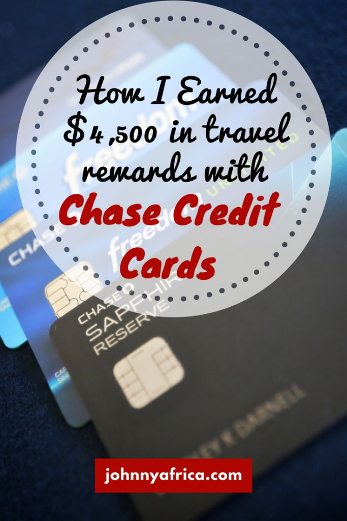 Chase credit cards provide some of the best rewards in the credit card world. I've managed to get thousands of dollars worth of rewards by successfully using them. #creditcards #churning #travelrewards #travelhacking