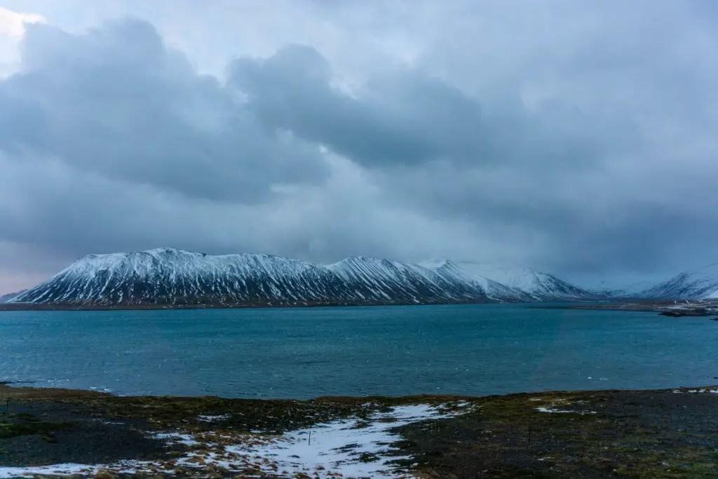 Snaefellsness peninsula mountain winter
