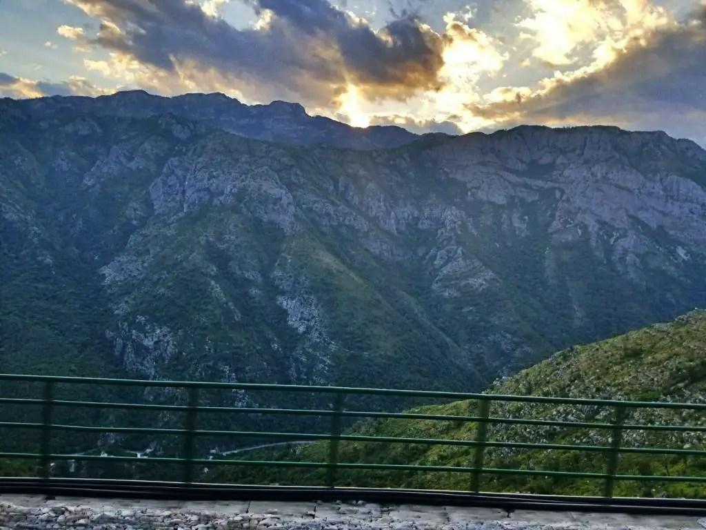 mountains belgrade bar train