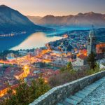 Kotor steps sunset