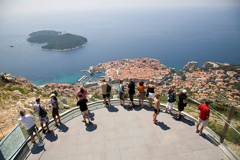 cable car views old town dubrovnik