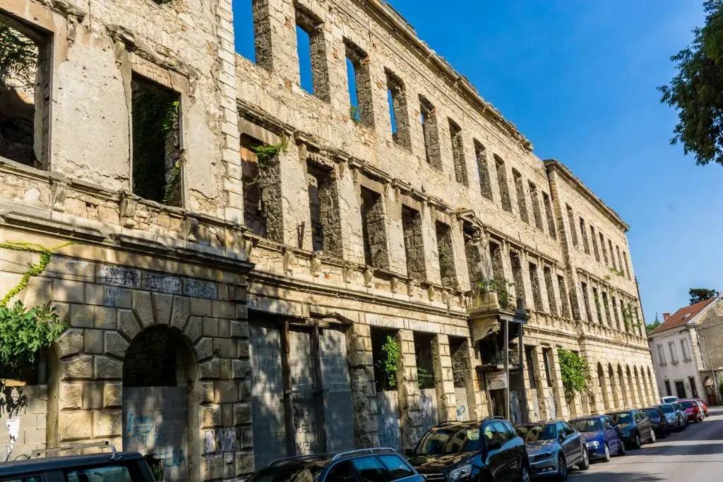 Mostar building bullet Bosnia War