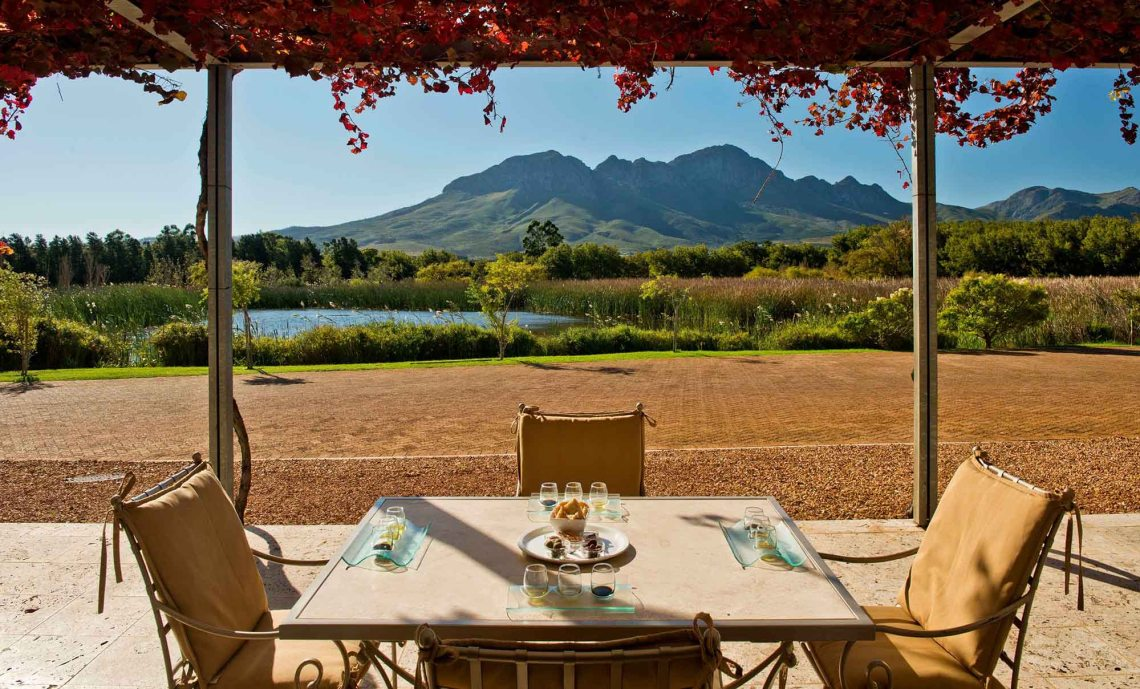 Morgenster wine farm views
