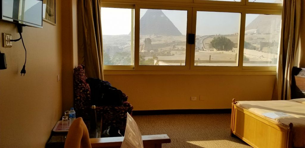Pyramids giza view guardian guesthouse egypt cairo