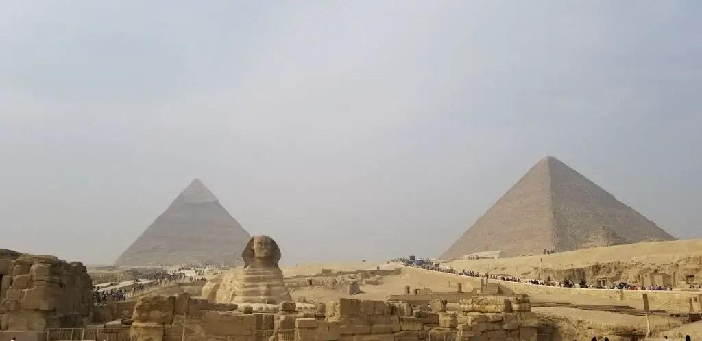 Pyramids giza sphinx cairo egypt
