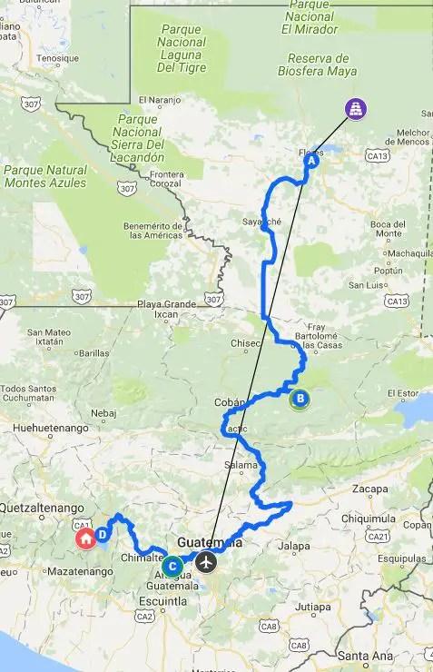 one two week itinerary guatemala travel