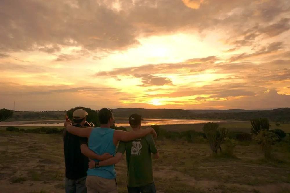 sunset queen elizabeth national park uganda