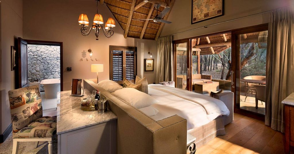 A room at the Timbavati in the Kruger