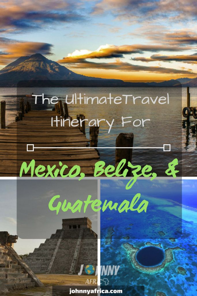 Mexico, Guatemala, and Belize make for the perfect Central American travel itinerary. Whether it\'s fantastic beaches, Mayan ruins, or nature\'s most stunning views, this itinerary will give you everything. Start in Cancun and work your way through the Yucatan provinces visiting Cozumel, Tulum, Bacalar before making your way to the beautiful and chill island of Caye Caulker. Then visit the ancient ATM caves and finally travel to Guatemala. #tikal #lakeatitlan #cozumel #tulum #cayecaulker #antigua