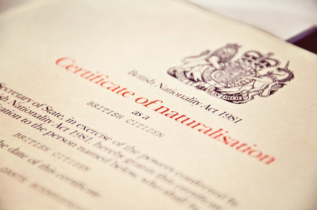British Citizenship naturalisation