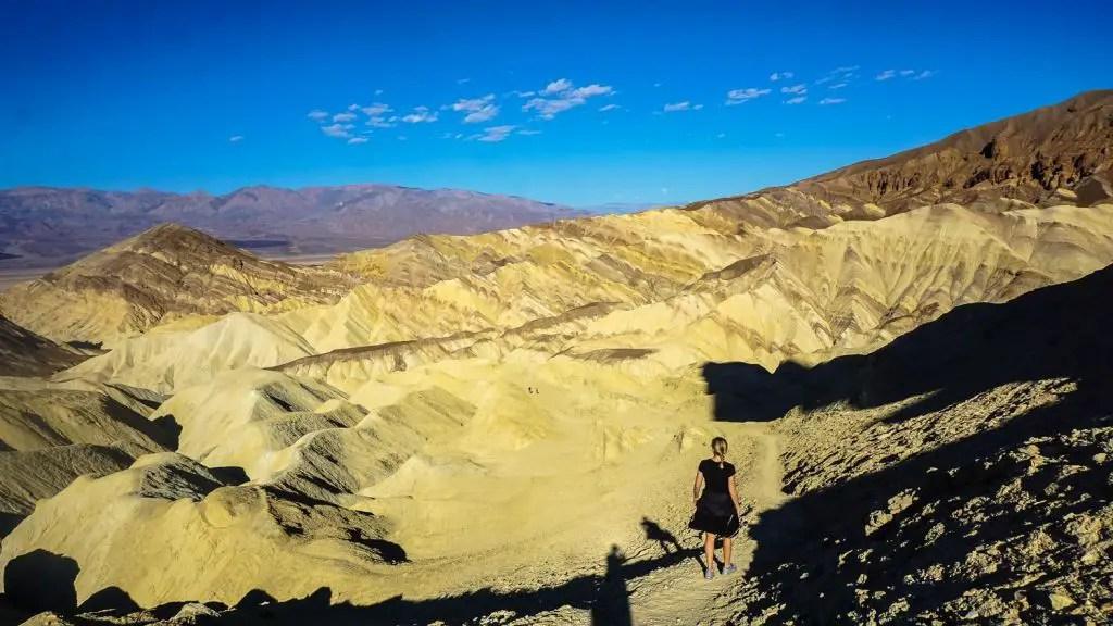Sunrise over Zabriskie Point Death Valley