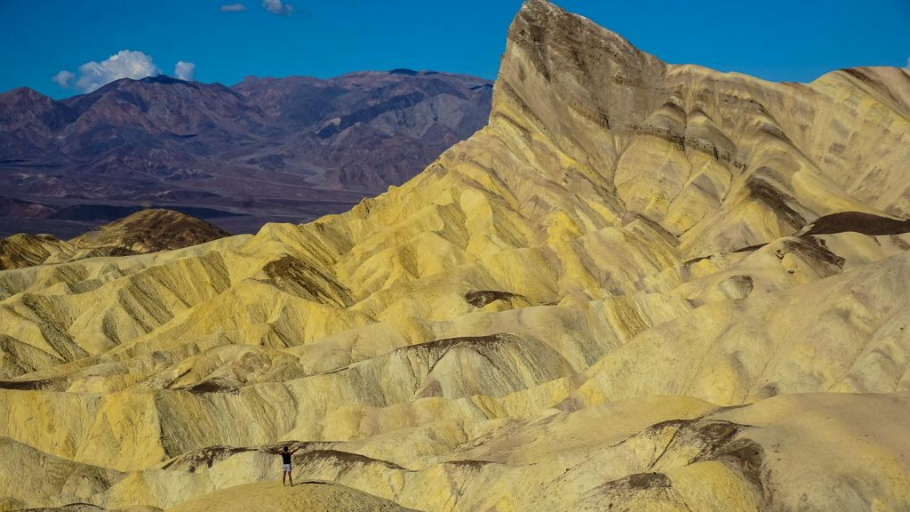 death valley zabriskie point rock formations