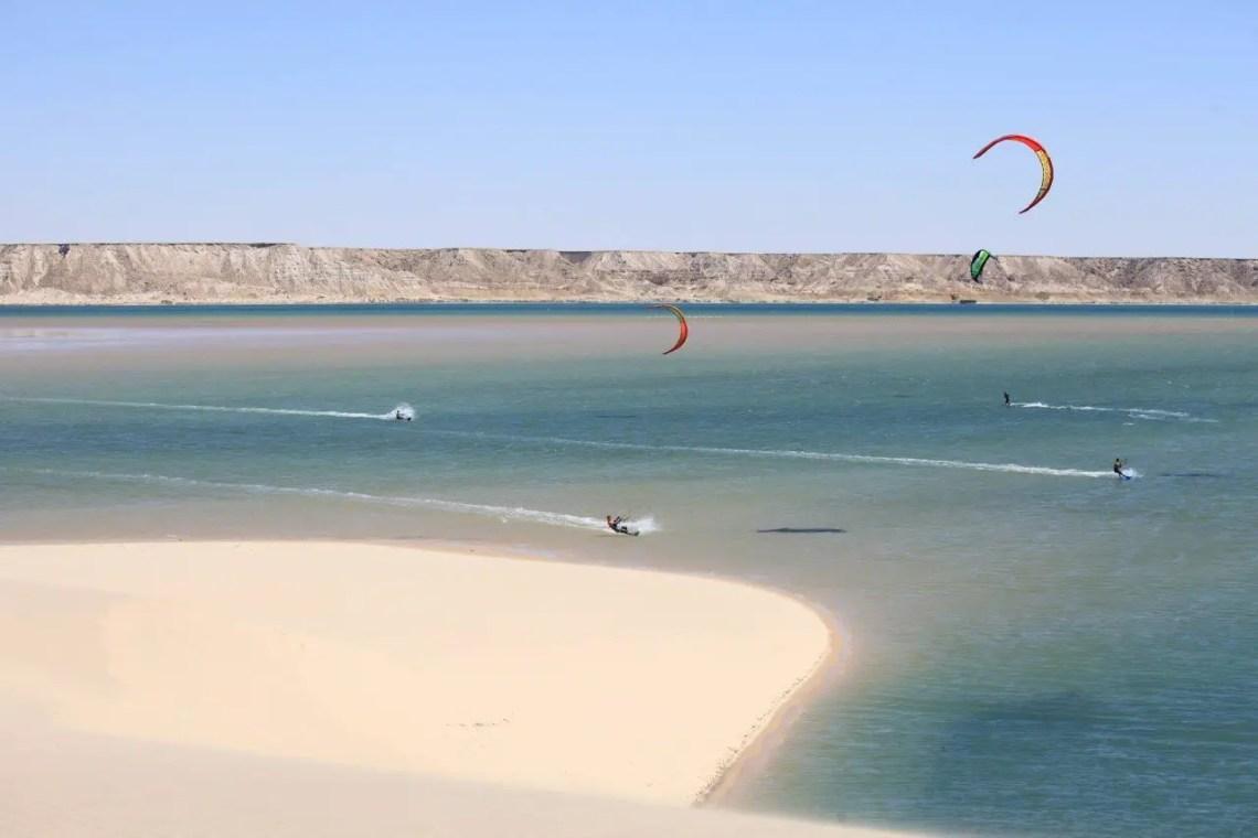 Kitesurfing lagoon dakhla