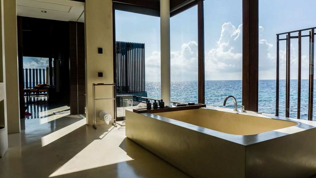 bathroom water villa park hyatt hadahaa maldives