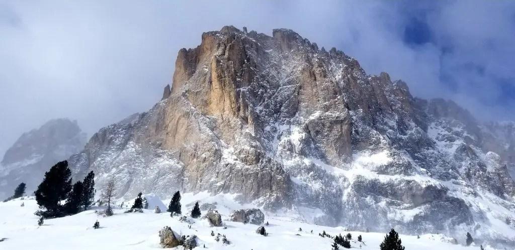 dolomites mountains skiing