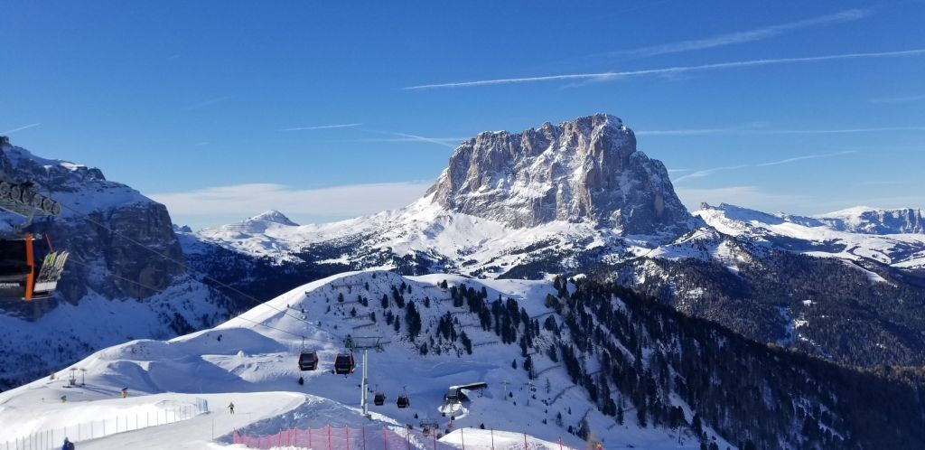 Dolomites Skiing in Italy Mountains