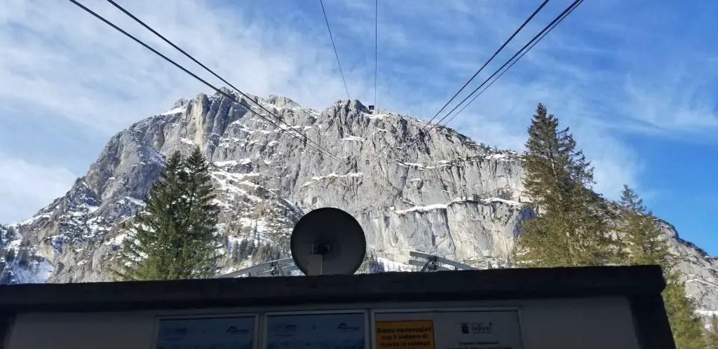 Funicular up to the top of Sass Pordoi