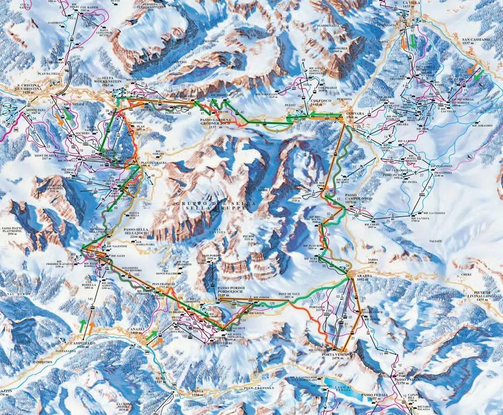 Sella Ronda Map