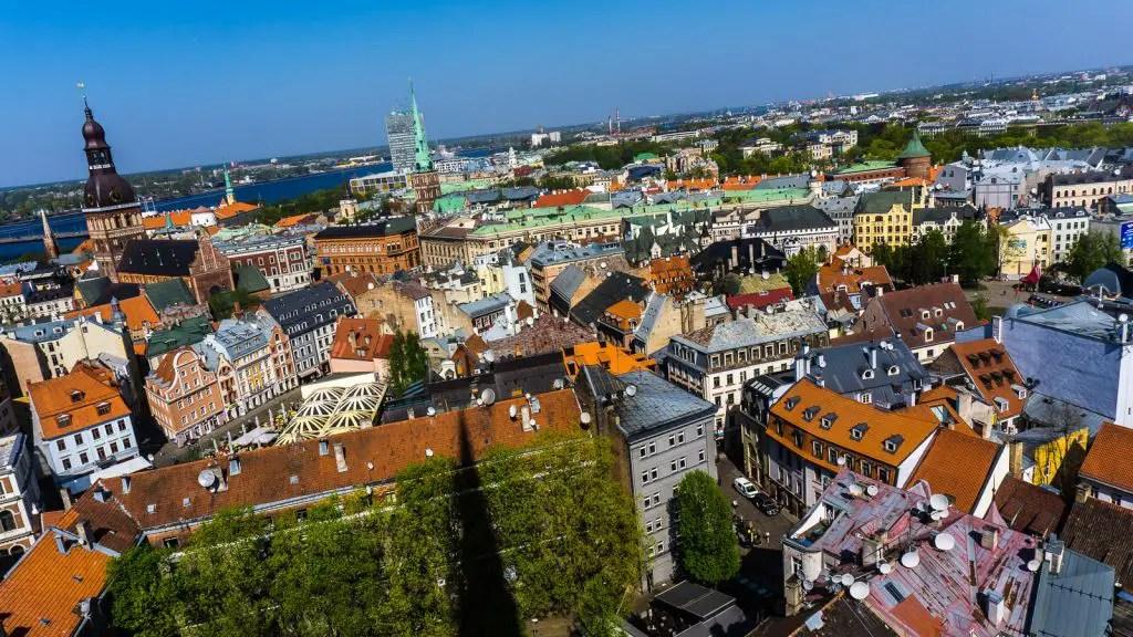 Aerial shot of Riga, Latvia