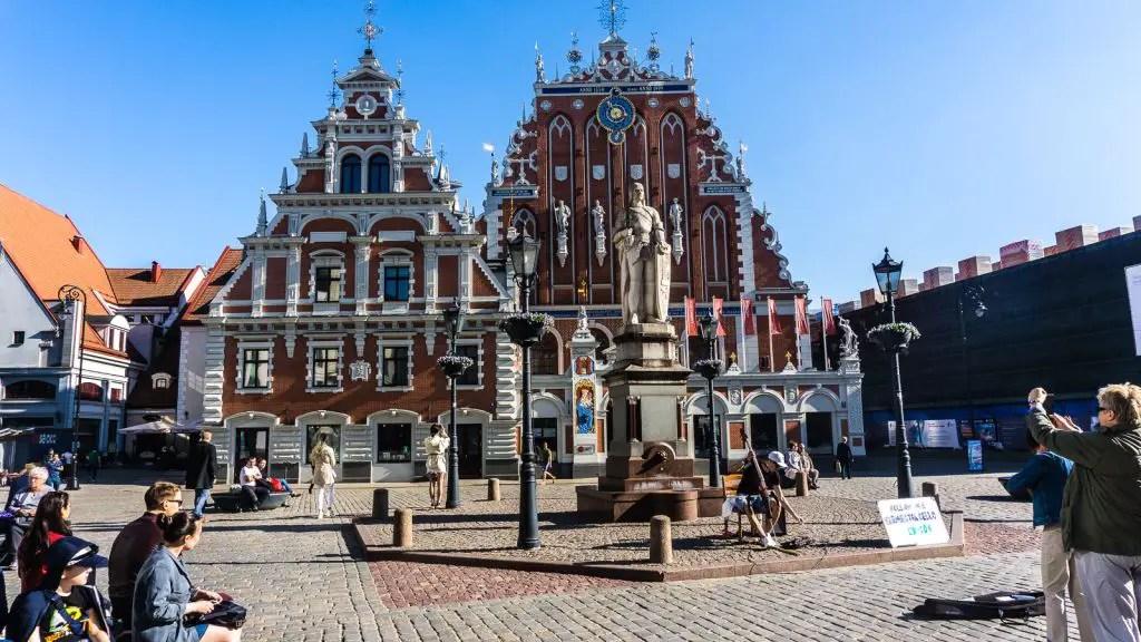 Town square of Riga