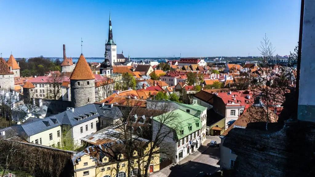 Views of Tallinn from Patkuli Viewing Platform