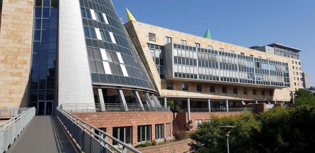 Finanzamt (Tax Authority) building in Frankfurt