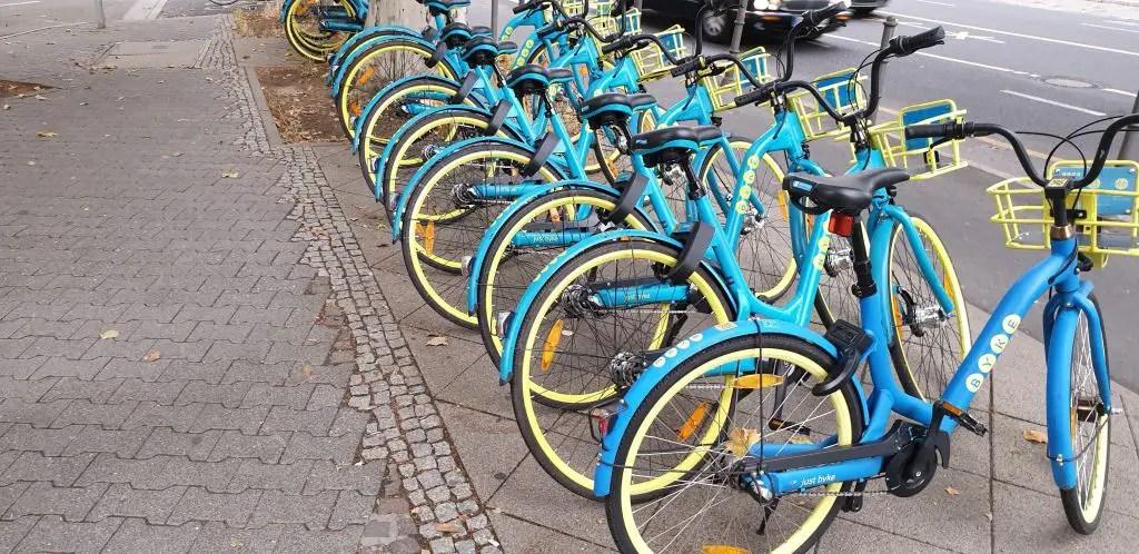 Wind byke in Frankfurt, Germany bike share