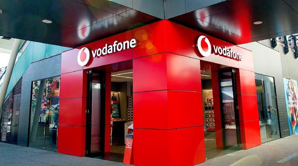 Vodafone store front. One of the 3 mobile carriers of germany