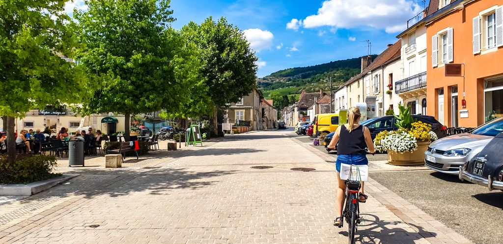 Biking through villages like Volmir in the Burgundy province!