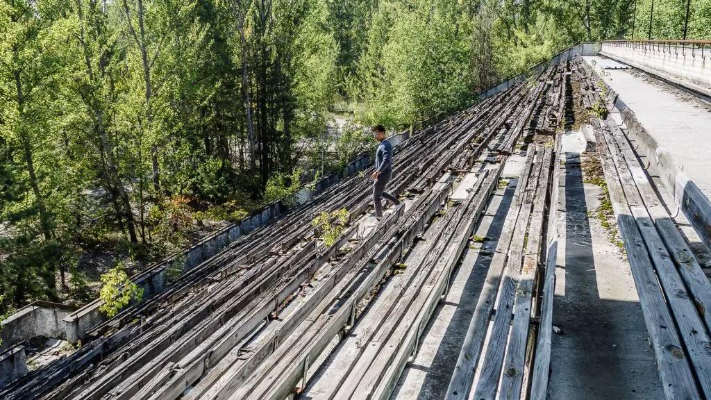 stadium football in pripyat chernobyl
